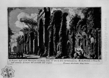 The Roman Antiquities T 1 Plate Xxiv Nero S Aqueduct 1756