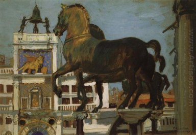 Horses Of St Mark Venice 1907