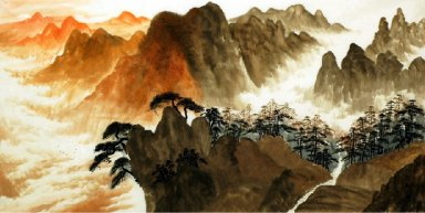 Mountains, Cloud - Chinese Painting