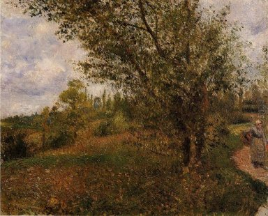 pontoise landscape through the fields 1879