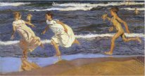Running Along The Beach 1908