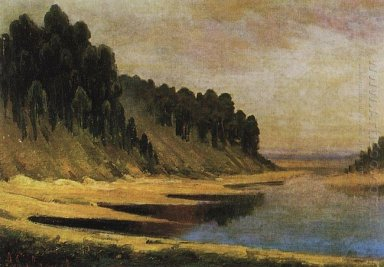 wooded banks of the moskva river 1859