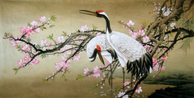 Crane - Plum - Chinese painting