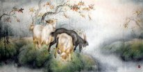 Sheep-Sprin - Pintura Chinesa