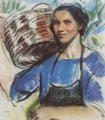 Cassis A Peasant Woman With Basket 1928