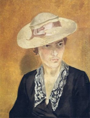 portrait s i l in a straw hat 1935