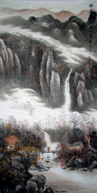 Moutains and clouds - Chinese Painting