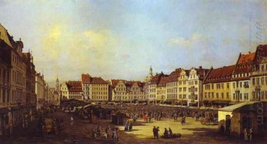 The Old Market Square In Dresden