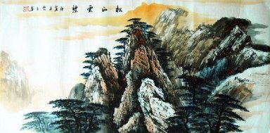 Mountains,Pines - Chinese Painting