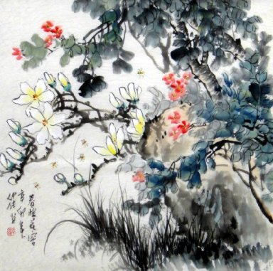 Bee-Flower - Chinese Painting