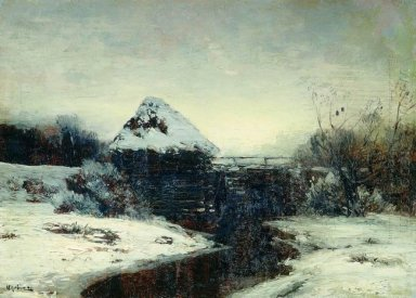 Winter Landscape With Mill 1884