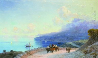 Sea Coast Crimean Coast Near Ai Petri 1890