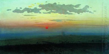 sunset in the steppes 1900