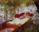 Two Women Asleep In A Punt Under The Willows 1887