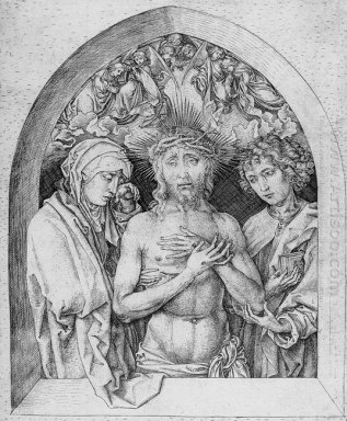 The Man Of Sorrows With The Virgin Mary And St John The Evangeli