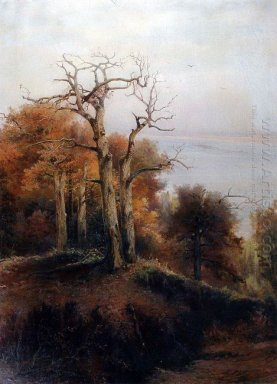autumn forest kuntsevo damn place 1872