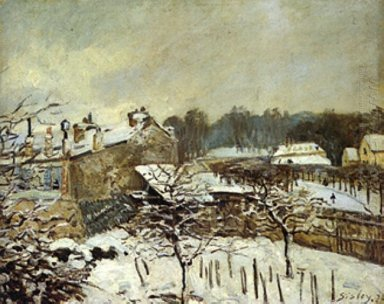 snow effect at louveciennes 1876