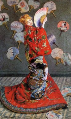 Japan S Camille Monet In Japanese Costume 1876
