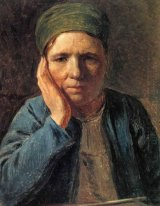 A Peasant Woman, Resting on Her Hand