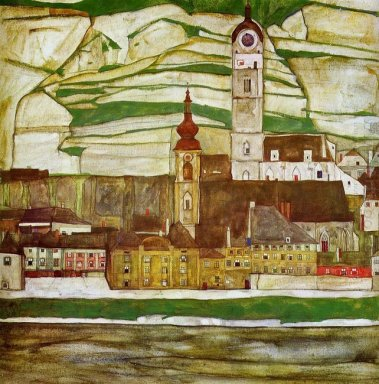 stein on the danube seen from the south 1913