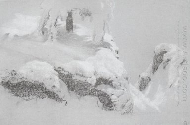 A Sketch For A Painting In The Wild North 1890