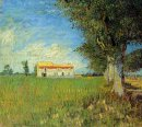 Farmhouse In A Wheat Field 1888 1