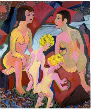 Bathing Women And Children 1932