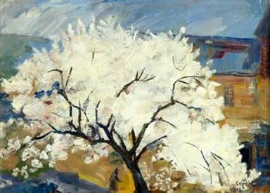 Apricot Tree In Blossom 1942 1