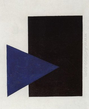 Suprematism With Blue Triangle And Black Square 1915