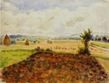 landscape at eragny clear weather 1890