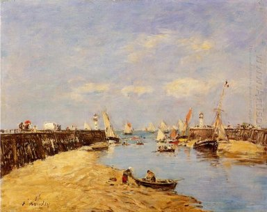 Trouville The Jetty And The Basin 1896