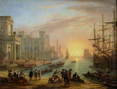 Seaport At Sunset 1639