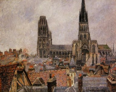 the roofs of old rouen grey weather 1896