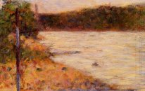 A River Bank The Seine At Asnieres 1883