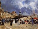 Market At Trouville 1876