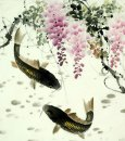Fish & Flowers - Pittura cinese