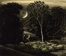Moonlight, a Landscape with Sheep