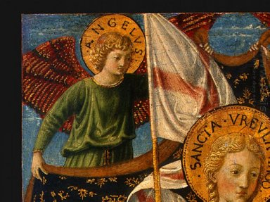 Saint Ursula With Angels And Donor Detail 4