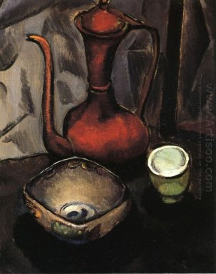 Still Life With Red Tea Kettle