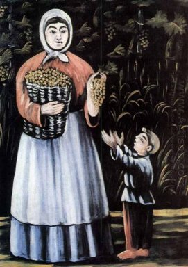 A Peasant Woman With Her Son