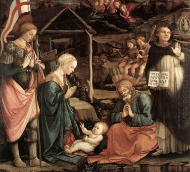 Adoration Of The Child With Saints 1465