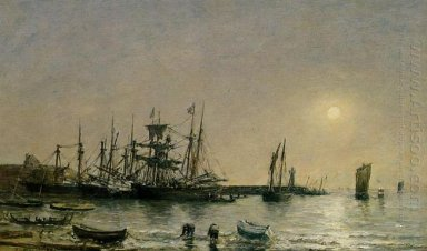 Portrieux Boats At Anchor In Port 1873