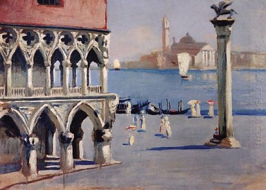 Venice Quay Grand Canal With Views Of The Island Of San Giorgio