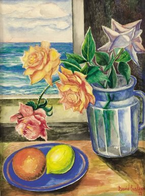 Still Life With Roses And Fruits 1933