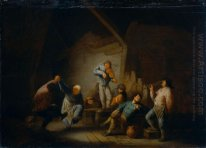 Dancing Couple and Merry Company in an Interior