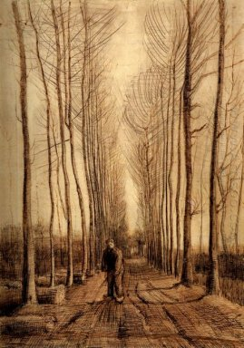 Avenue Of Poplars 1884