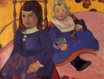 portrait of two children paul and jean schuffneker