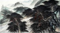 Mountains and trees - Chinese Painting
