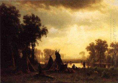 an indian encampment 1861