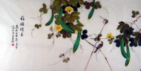 Loofah&Birds - Chinese Painting